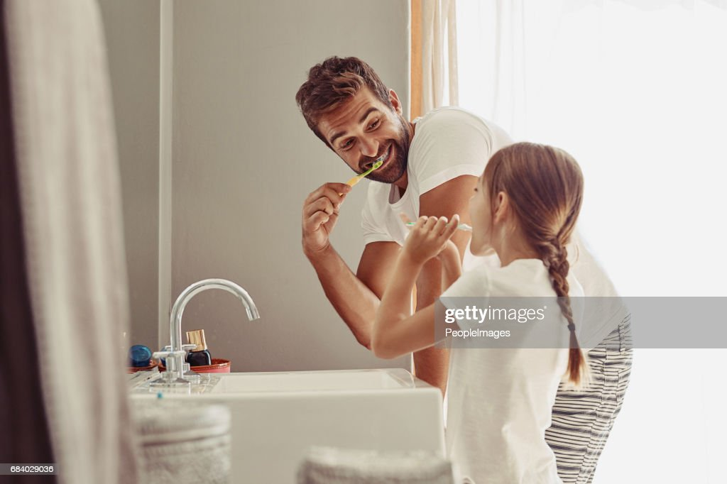 No cavities for this family : Stock Photo