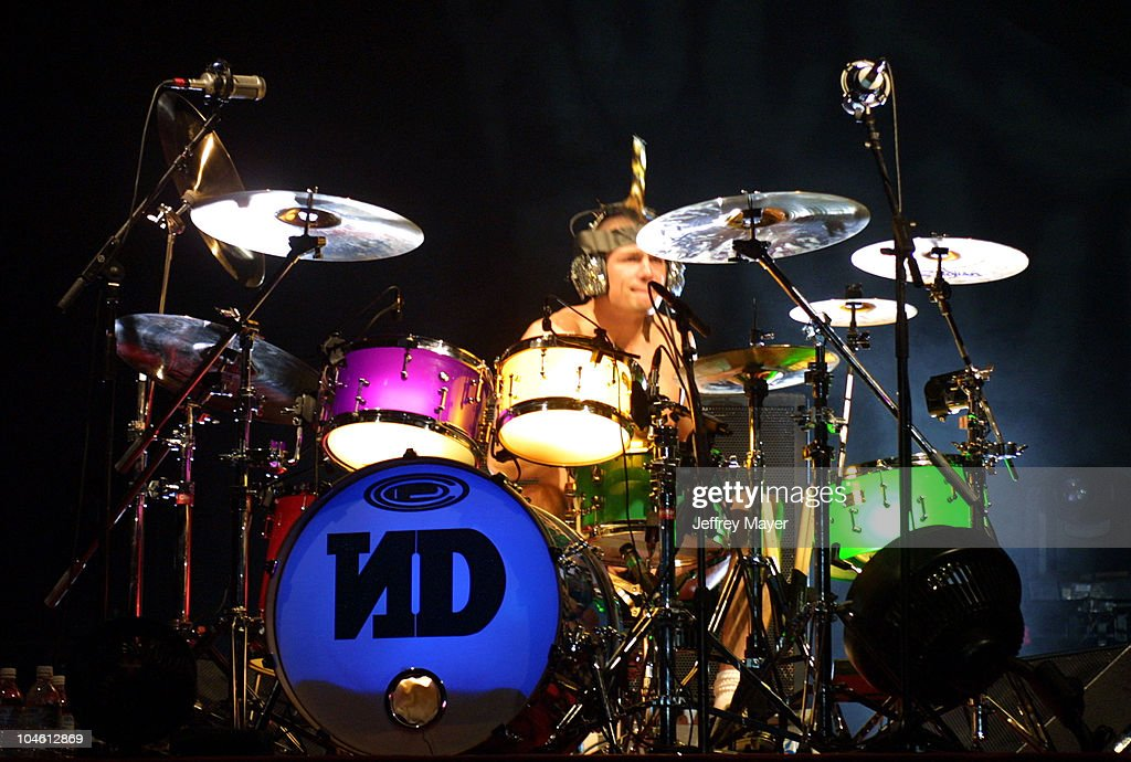 No Doubt Adrian Young during No Doubt in Concert at Universal Amphitheatre at Universal Amphitheatre in Universal City California United States