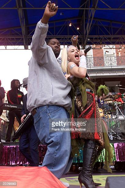No Doubt's Gwen Stefani and Outkast performing on the MTV Mardi Gras 2002 in New Orleans LA 2/5/02 Photo by Frank Micelotta/ImageDirect