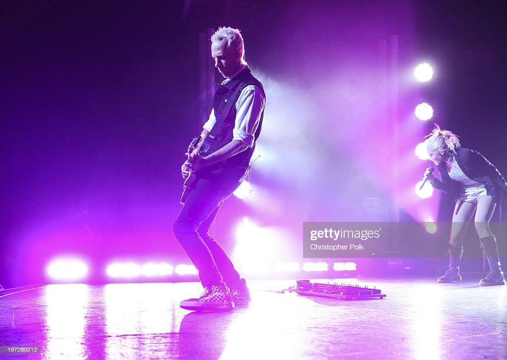 No Doubt's Tom Dumont performs at Gibson Amphitheatre on November 30, 2012 in Universal City, California.