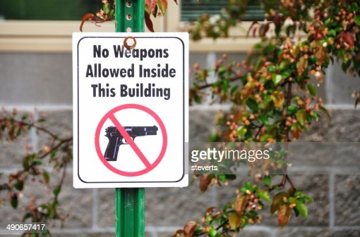 No Guns Sign : Stock Photo