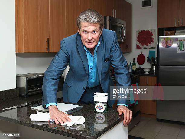 No hassles when you clean like The Hoff David Hasselhoff shows New Yorkers how easy it is to clean with Clorox's new products and Homejoy cleaning...