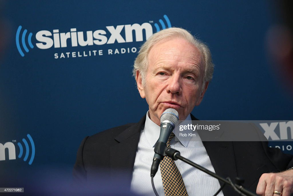 No Labels CoChair Joe Lieberman cohosts a special edition of SiriusXM's No Labels Radio airing on SiriusXM POTUS at SiriusXM Studios on May 5 2015 in...