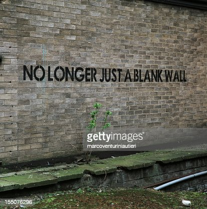 No longer just a blank wall - Urban graffiti, English