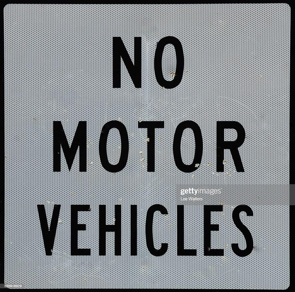 No los vehículos de Motor de señalización : Foto de stock