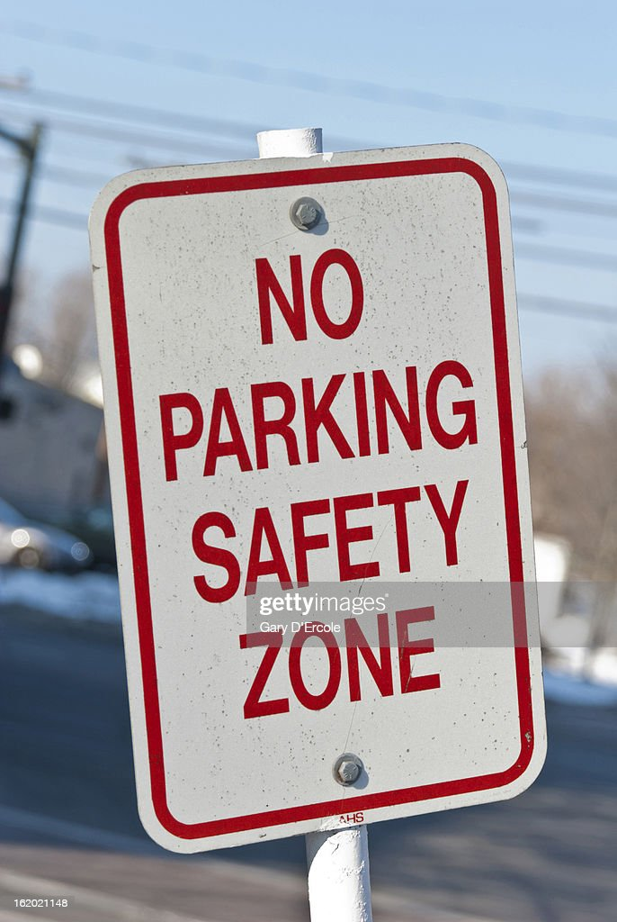 No parking safety zone sign