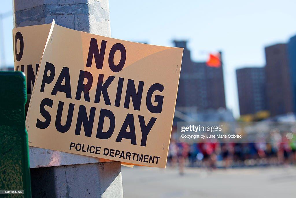No parking sunday