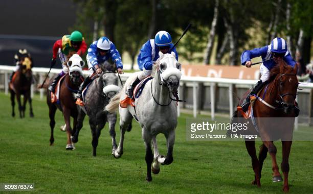 No Risk Al Maury ridden by Richard Hills wins the Abu Dhabi Harwood International Arabian Racing Stakes during the July Festival at Newmarket...