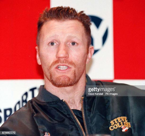 No show Benn WBO world supermiddleweight champion Steve Collins finds himself having a head to head with an empty chair after Nigel Benn fails to...
