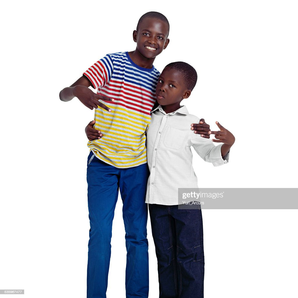 No sibling rivalry here : Stock Photo