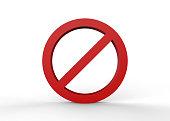 No' Symbol, Sign, Warning Sign, Circle, Forbidden