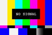 No signal TV test pattern background