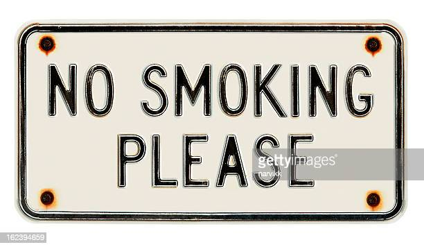 No smoking please metal sign