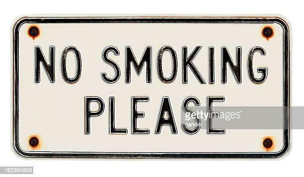 Non fumatori Si prega di metallo