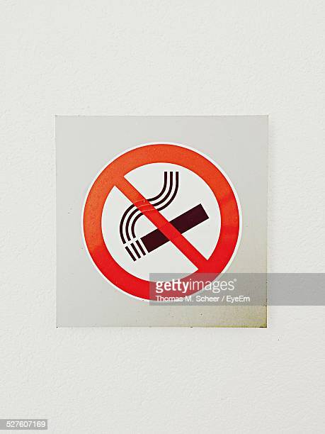 No Smoking Sign On Wall