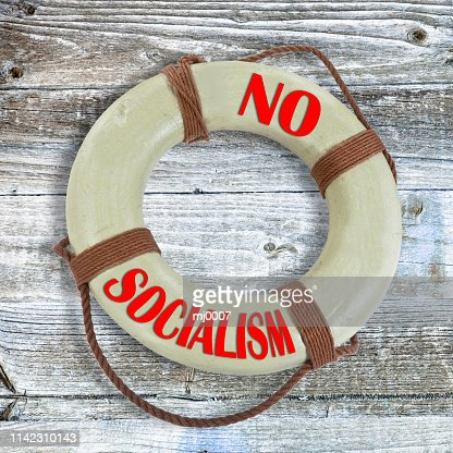 No Socialist Lifesaver. : Stock Photo