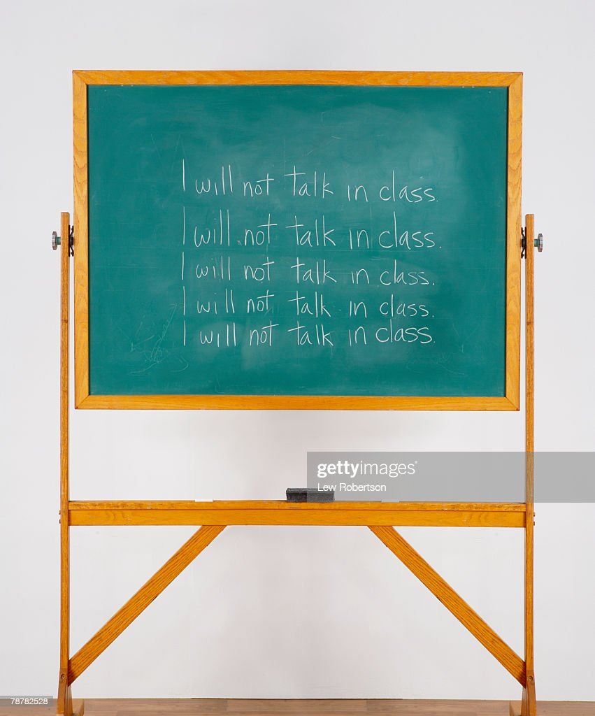 No Talking in Class : Stock Photo