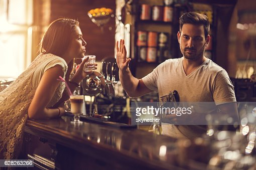 No thanks, you are to drunk! : Stock Photo