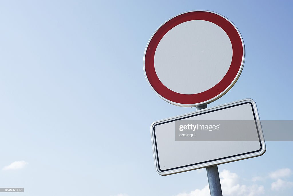 No traffic allowed road sign : Stock Photo
