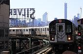 No.7 elevated subway train