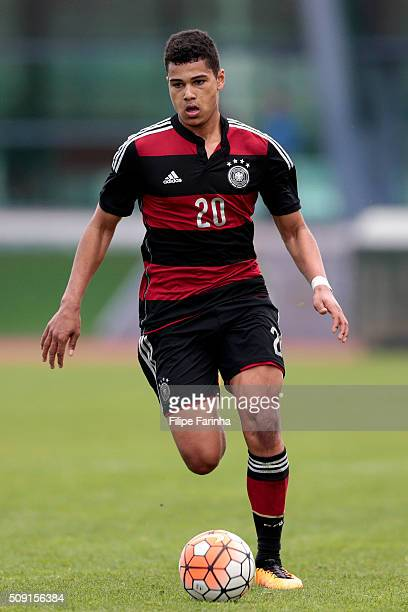 Noah Awuku of Germany during the UEFA Under16 match between U16 France v U16 Germany on February 6 2016 in Vila Real de Santo Antonio Portugal