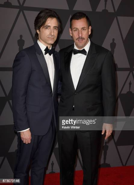 Noah Baumbach and Adam Sandler attend the Academy of Motion Picture Arts and Sciences' 9th Annual Governors Awards at The Ray Dolby Ballroom at...