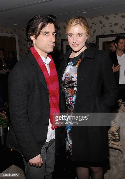 Noah Baumbach and Greta Gerwig attend the after party for the Cinema Society Opium Yves Saint Laurent screening of 'Salmon Fishing in the Yemen' at...