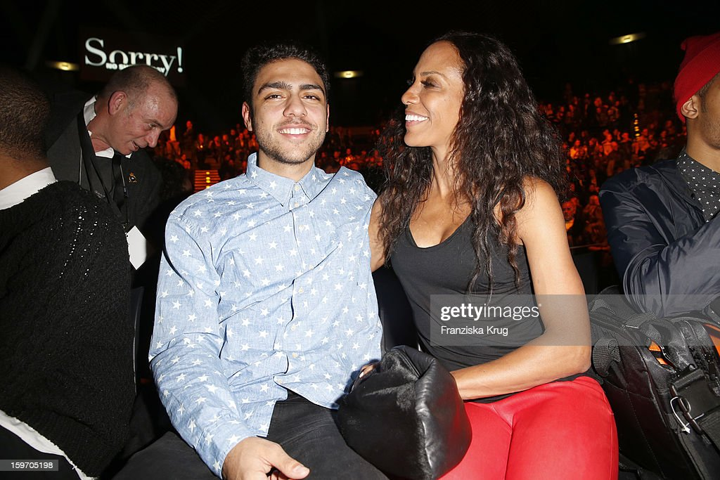 Noah Becker and Barbara Becker attend the 'Michalsky Style Nite Show - Mercesdes-Benz Fashion Week Autumn/Winter 2013/14' at Tempodrom on January 18, 2013 in Berlin, Germany.