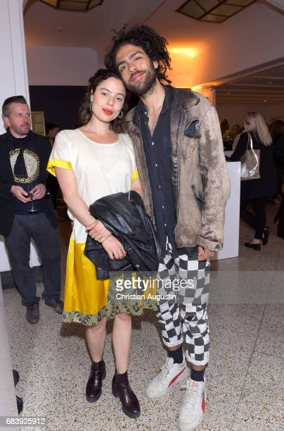 Noah Becker and Tania Moreno de Oliveira Lagoeiro attend the Deichmann Shoe Step of the year award at Curio Haus on May 16 2017 in Hamburg Germany