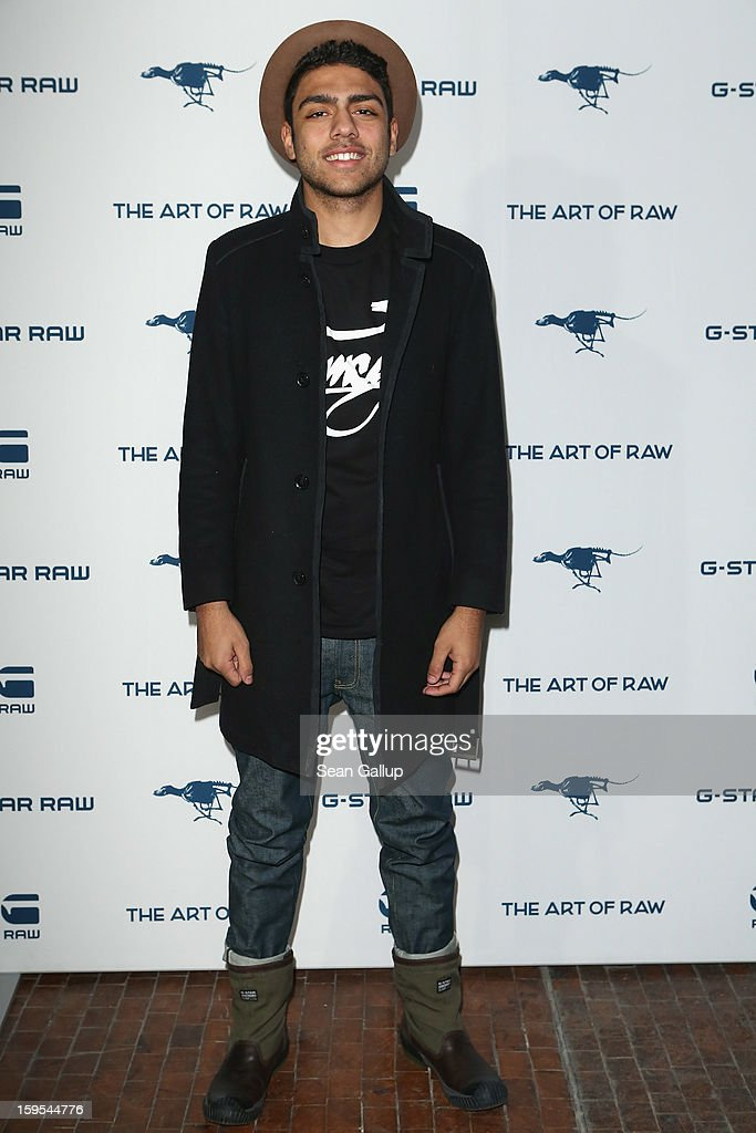 <a gi-track='captionPersonalityLinkClicked' href=/galleries/search?phrase=Noah+Becker&family=editorial&specificpeople=2316372 ng-click='$event.stopPropagation()'>Noah Becker</a> attends the G-Star Autumn/Winter 2013 runway show at St. Agnes Church on January 15, 2013 in Berlin, Germany.