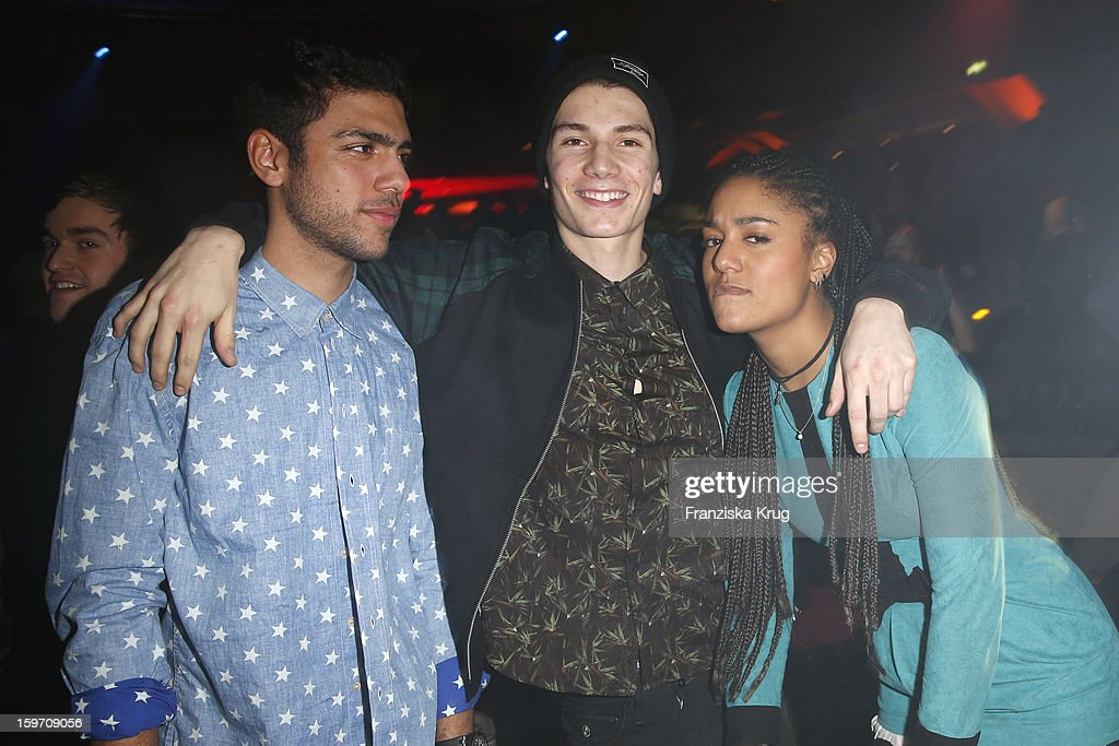 Noah Becker, Christopher Karven and guest attend the 'Michalsky Style Nite After Show Party - Mercesdes-Benz Fashion Week Autumn/Winter 2013/14' at Tempodrom on January 18, 2013 in Berlin, Germany.