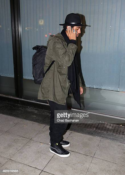 Noah Becker sighting at Tegel Airport on January 30 2014 in Berlin Germany