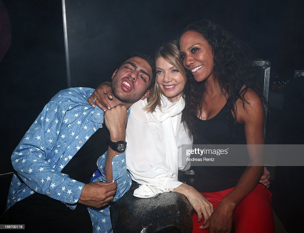 Noah Becker, Ursula Karven and Barbara Becker attends the Michalsky Style Nite after party during the Mercedes-Benz Fashion Week at Tempodrom on January 18, 2013 in Berlin, Germany.