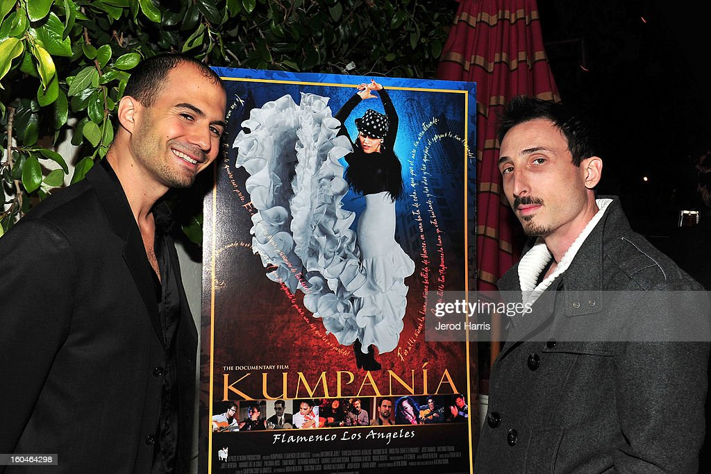 Noah Berlow and Avi Cohen arrive at the premiere of 'Kumpania: Flemenco Los Angeles' at El Cid on January 31, 2013 in Los Angeles, California.