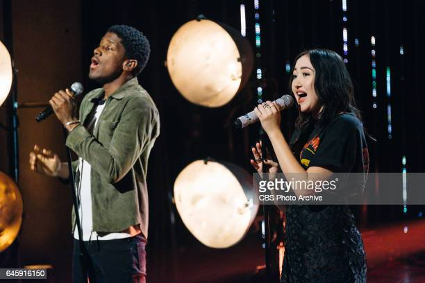 Noah Cyrus and Labrinth perform during 'The Late Late Show with James Corden' Tuesday February 21 2017 On The CBS Television Network