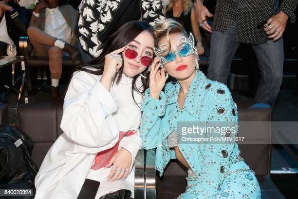 Noah Cyrus and Miley Cyrus attend the 2017 MTV Video Music Awards at The Forum on August 27 2017 in Inglewood California