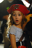 Noah Cyrus hangs out and acts on the set of 'Mostly Ghostly' at the Universal Studio Elm Street lot