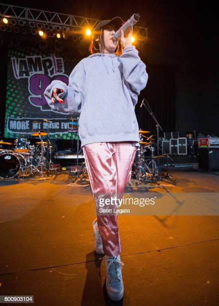 Noah Cyrus performs at Michigan Lottery Amphitheatre on June 25 2017 in Sterling Heights Michigan