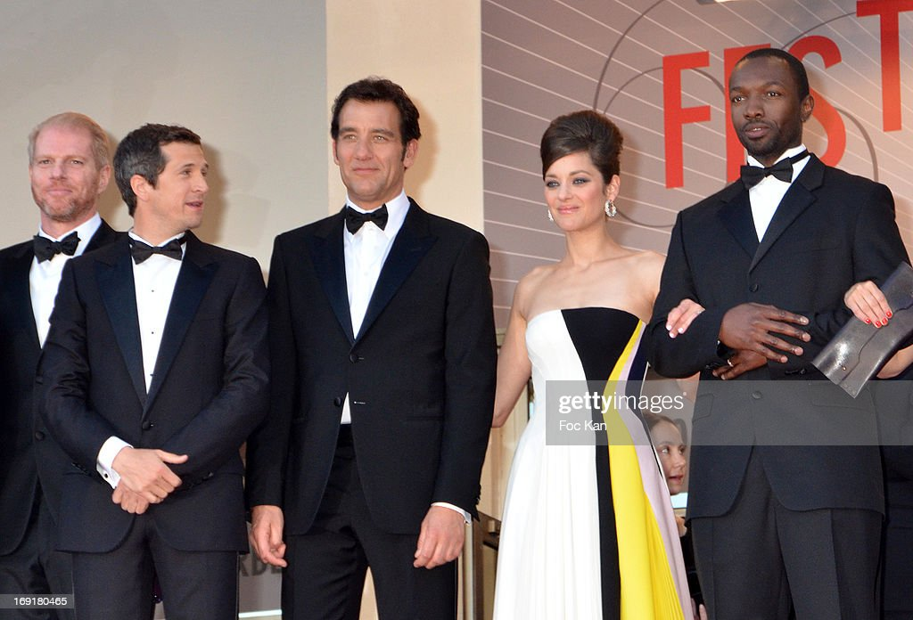 Noah Emmerich, director Guillaume Canet, actor Clive Owenand actress Marion Cotillard and actor Jamie Hector attend the Premiere of 'Blood Ties' during the 66th Annual Cannes Film Festival at the Palais des Festivals on May 20, 2013 in Cannes, France.