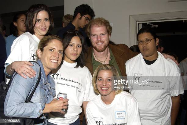Noah Emmerich with Voices in Harmony members during Voices in Harmony and Fulfillment Fund Production by At Risk Youth at Doolittle Theater in Los...