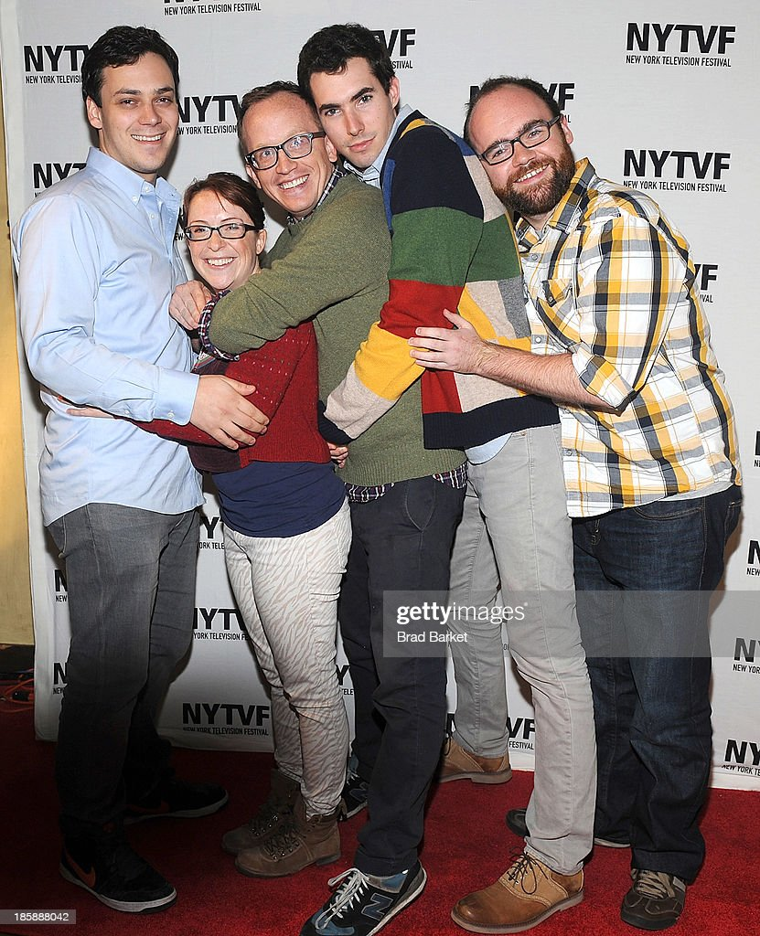 Noah Formam Bethany Hall Chris Gethard JD Amato and Dru Johnston attend 'The Chris Gethard Show' Panel Discussion 9th Annual New York Television...