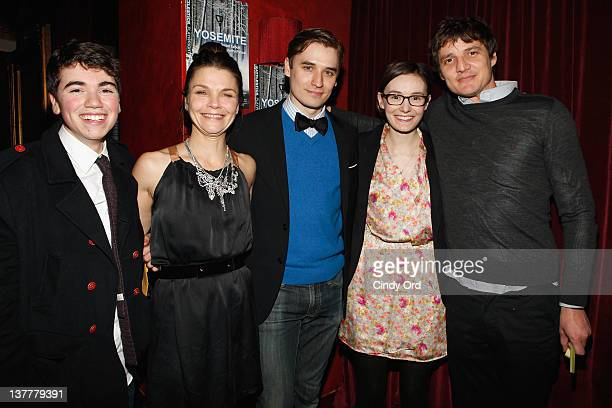 Noah Galvin Kathryn Erbe Seth Numrich Libby Woodbridge and director Pedro Pascal attend the 'Yosemite' opening night after party at Dublin 6 on...