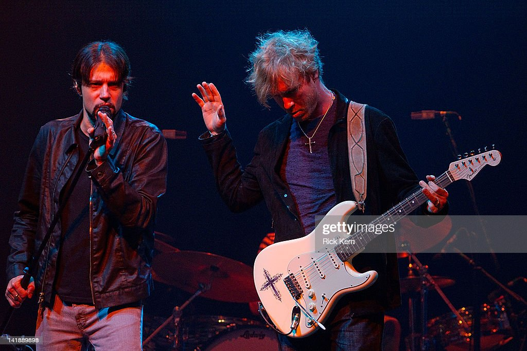 Noah Hunt and <a gi-track='captionPersonalityLinkClicked' href=/galleries/search?phrase=Kenny+Wayne+Shepherd&family=editorial&specificpeople=829913 ng-click='$event.stopPropagation()'>Kenny Wayne Shepherd</a> perform as part of the Experience Hendrix Tribute at ACL Live on March 24, 2012 in Austin, Texas.