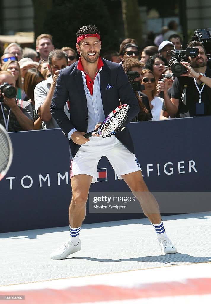 Noah Mills attends the Tommy Hilfiger And Rafael Nadal Global Brand Ambassadroship Launch Event at Bryant Park on August 25, 2015 in New York City.
