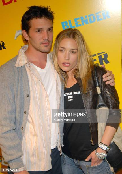Noah Perabo and Piper Perabo during Blender Magazine 5th Anniversary Blowout at Studio 450 in New York City New York United States