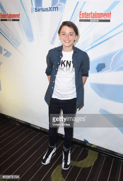 Noah Schnapp attends SiriusXM's Entertainment Weekly Radio Channel Broadcasts From Comic Con 2017 at Hard Rock Hotel San Diego on July 22 2017 in San...