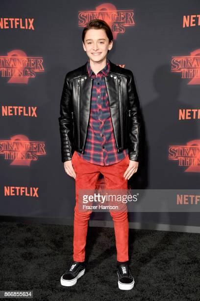 Noah Schnapp attends the premiere of Netflix's 'Stranger Things' Season 2 at Regency Bruin Theatre on October 26 2017 in Los Angeles California
