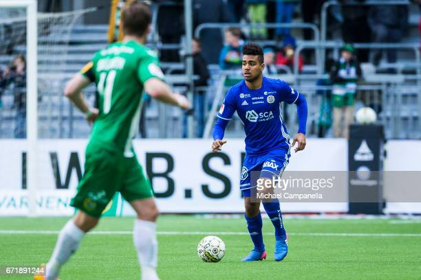 Noah Sonko Sundberg of GIF Sundsvall during the Allsvenskan match between Hammarby IF and GIF Sundsvall at Tele2 Arena on April 23 2017 in Stockholm...