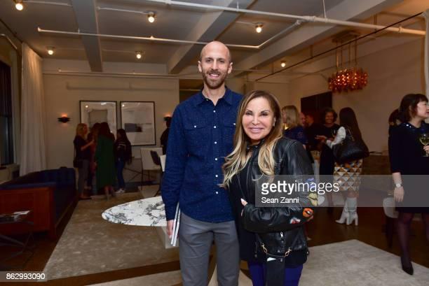 Noah Turkus and Sculptor Carole Feuerman attend Tom Faulkner at Angela Brown Ltd on October 18 2017 in New York City