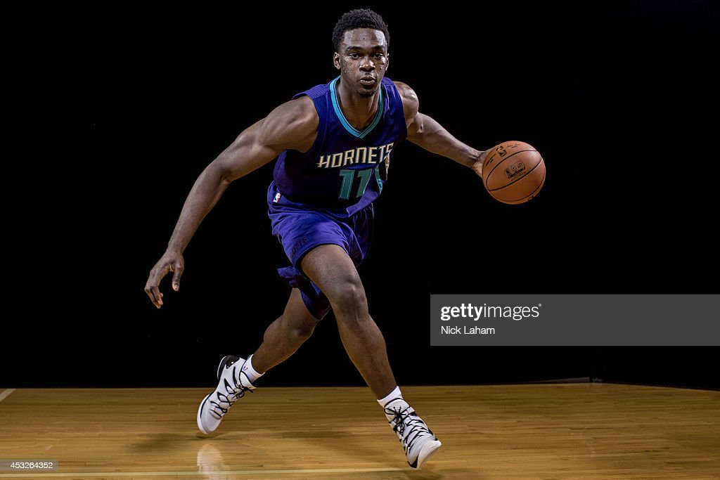 <a gi-track='captionPersonalityLinkClicked' href=/galleries/search?phrase=Noah+Vonleh&family=editorial&specificpeople=9612442 ng-click='$event.stopPropagation()'>Noah Vonleh</a> #11 of the Charlotte Hornets poses for a portrait during the 2014 NBA rookie photo shoot at MSG Training Center on August 3, 2014 in Tarrytown, New York.